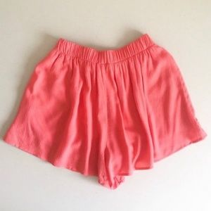 Lush Shorts - Lush Coral High Waisted Shorts NWOT Juniors XS